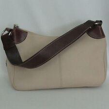 Dooney and Bourke Brown & Ivory Leather Hobo Shoulder Handbag