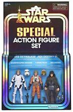 "[ToysHero] In Hand Star Wars Collection 3.75"" Luke SkyWalker Jedi Destiny 3 Pack"