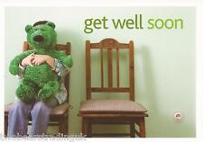 Postcard: eBay - Get Well Soon: Girl With Large Green Teddy Bear (Promo)
