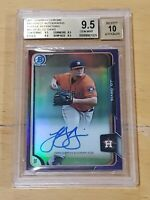 2015 Bowman Chrome Refractor PURPLE /250 JD Davis Autograph RC Rookie BGS 9.5/10