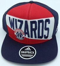 052481c2aed NBA Washington Wizards Adidas Flat Brim Snap Back Cap Hat Style  VW77Z NEW!
