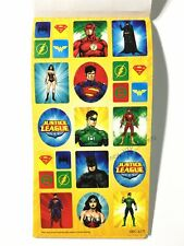 JUSTICE LEAGUE PARTY STICKERS BOOK 12 SHEETS 288PK BIRTHDAY FAVOUR BAG FILLER