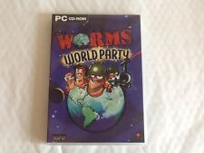 WORMS WORLD PARTY PC CD ROM VGC ORIGINAL PACKAGING AND BOOKLET UK SELLER