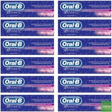 12 Oral-B 3DWhite Vitalizing Fresh Mint Toothpaste Whitening Enamel Protect 75ml