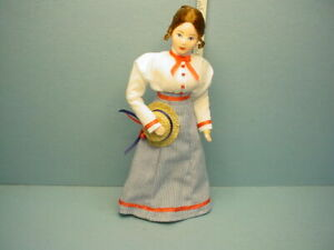 """Miniature Young Woman """" Auguste"""" #10710 Dollhouse Doll, Handcrafted Erna Meyer"""