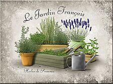 Der Garten (Kräuter) Stahl Kühlschrank Magnet (na)