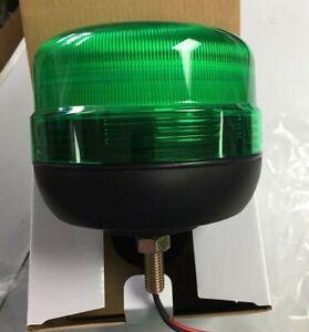 LED Beacon 12-24V Green Single Bolt Mount Flashing - TOP QUALITY UK SUPPLIER