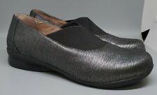 (K) New Dansko Size 8 Ann Metallic Pewter Slip On Nurse Medical Doctor Shoes Nwt