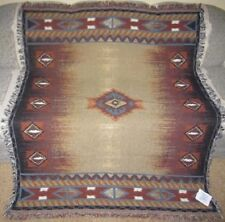 New Brown Southwest Serape Afghan Tapestry Throw Gift Blanket Wall Hanging Decor