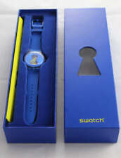 OPEN IT! Swatch New Gents THE CLUB Special KEY Pkg, Silicone Strap! NIP-RARE!