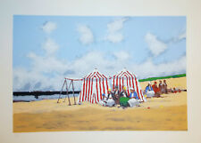 "McDuff, Frederick ""Cove,Dinard"" classic French seaside-original serigraph/signed"