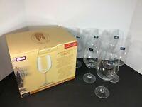 6 Crystalite Bohemia Lead-Free Crystal Titanium 21.5 Oz 640 ML Stem Wine Glasses
