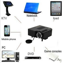 1080P HD Multimedia LED MiNi Projector Home Theater Cinema Video AV TV VGA HDMI#