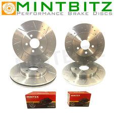 Mitsubishi Shogun 2.5TD 91-99 Front Rear Brake Discs & Pads Dimpled & Grooved