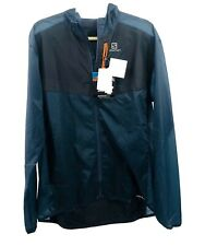 Salomon Fast Wing Aero Running hooded Jacket Vintage Indigo Size XL NWT $140