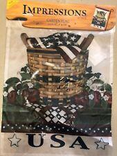 "Impressions Garden Flag USA with Basket 12.5"" x 18"" New"