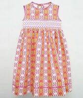 Girls SILLY GOOSE  pink sage green smocked dress 6 12 18 2T months NWT sundress
