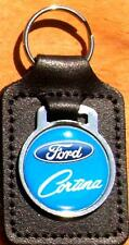 Ford Cortina Keyring Key Ring - badge mounted on a leather fob