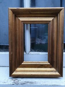 """VINTAGE SMALL GOLD GILT  FRONT PHOTO PAINTING PICTURE FRAME 8"""" W x 10"""" D"""