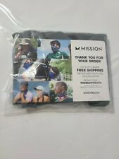 Mission Cooling Neck GAITER 12 Ways to Wears Face Mask One Size Charcoal