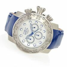 22391 Invicta 52mm Lupah Espadon Quartz Chronograph Patent Leather Strap Watch
