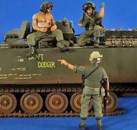 1/35 Resin US Tankers & Soldier 3 Kit Unpainted Unbuild QJ157