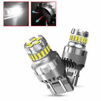 2 X T20 7440 7443 SMD LED Canbus Brake Back Up Reverse Light Bulbs 6500K White