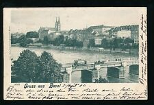 Switzerland Gruss aus BASEL Used 1902 u/b PPC