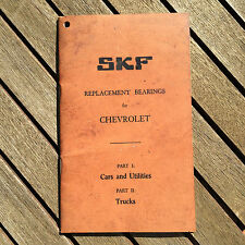 SKF Replacement Bearings for Chevrolet Workshop Manual Reference Book