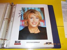 DEBORAH NORVILLE SIGNED PHOTOGRAPH WITH SIGNED LETTER~INSIDE EDITION~2006