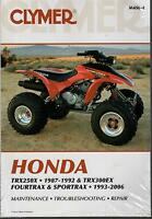 1987-1992 CLYMER HONDA ATV TRX250X, FOURTRAX & SPORTRAX SERVICE MANUAL  M456-4