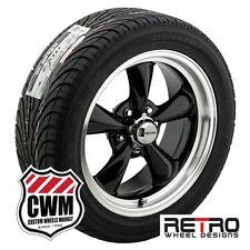 "17x7"" inch Retro Black Wheels Rims BFG Tires 215/45ZR17 for Ford Falcon 64-67"