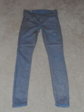 MOTHER POWDER BLUE GLIMMER THE LOOKER SPARKLE & PURR SKINNY LEGGING JEANS 25