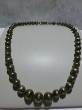 ART NOUVEAU DECO OUTWARDS PAWN BENCH STERLING MEXICO SILVER BEAD NECKLACE