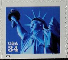 2001 34c Statue of Liberty, Single from Pane, Sa Scott 3485 Mint F/Vf Nh