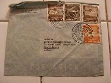 STAMPS ~ 1956 CHILI 4, 5, 20 Pesos ~ Santiago ~ RARE ~ OLD Airplanes Coreo Aereo