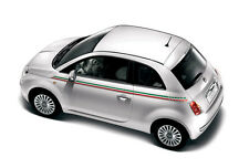 Fiat 500 Italian Flag Stripe Decals Stickers (Correct size colour)