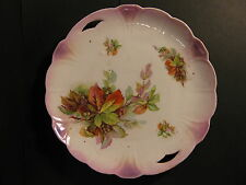 """ANTIQUE/VINTAGE 9 1/2"""" BAVARIAN CHINA DISH / NICELY DETAILED/HAND PAINTED/NR"""