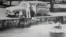 "1950 Chevrolet Wagon ? 12 x 18"" Black & White Picture"