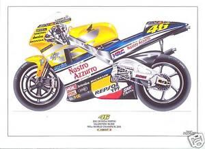 Valentino Rossi ltd edition art print 2001 Honda NSR500