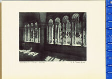 Cloister of the Papal Basilica of St. Paul  - Griva Rome Etching