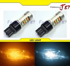 LED Switchback Light 2835 White Amber Orange 7444 Two Bulbs Front Turn Signal