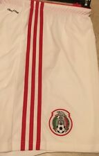 NWT adidas Mexicana de futbol Mexico WC 2014 Home Soccer Shorts White Red 2XL