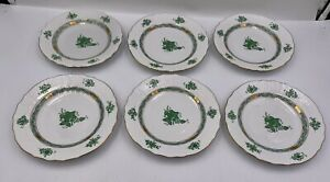 """One Herend Hungary Chinese Bouquet Green Salad Plate - 7.5"""" - Excellent"""