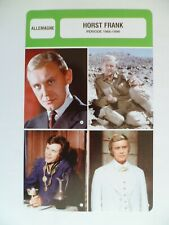 CARTE FICHE CINEMA  HORST  FRANK PERIODE 1966-1998