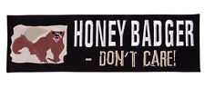 HONEY BADGER Embroidered Iron On Motorcycle Biker Vest Jacket  Patch P37