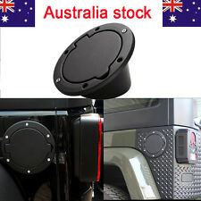 Black Fuel Filler Door Cover Gas Tank Cap For  07-15 Jeep Wrangler JK AU Stock