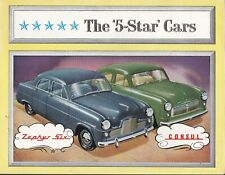 FORD The  'Five-Star' Cars -  Zephyr Six and Consul Brochure. POST FREE