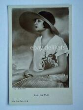 Cinema LYA DE PUTTI attrice muto silent movie foto Binder 1573