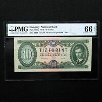 1949 Hungary 10 Forint, Pick # 164a, PMG 66 EPQ Gem Uncirculated
